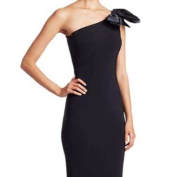 1756539d Chiara Boni Dresses | La Petite Robe Oneshoulder Bow Gown | Poshmark